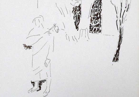 Un dels dibuixos originals de Claude Collet per a 'Poemes i Dibuixos'