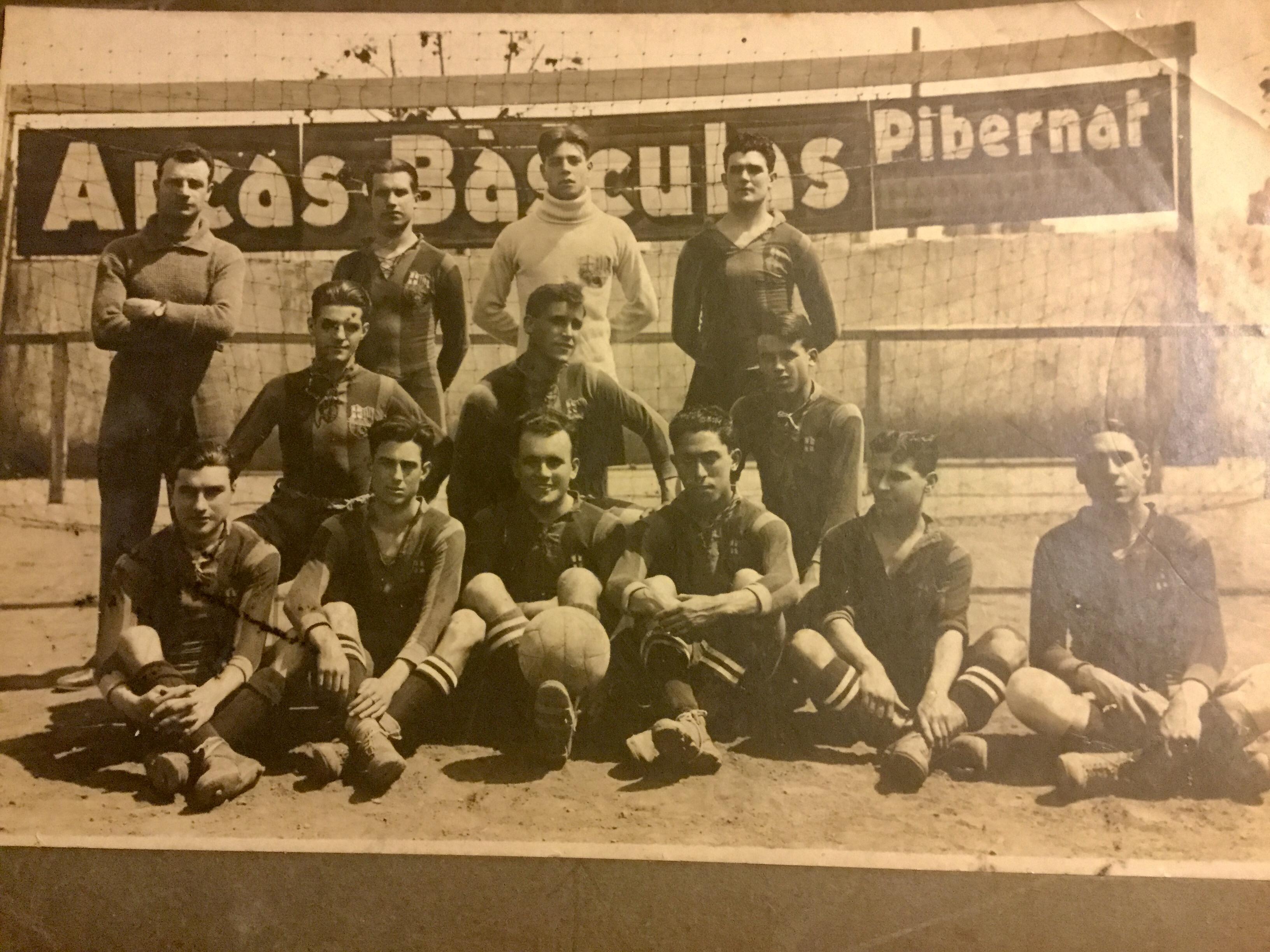 Aliniació del Barça, amb Vicenç Martínez